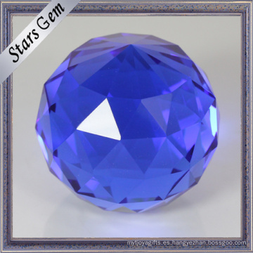 Round Single Point Blue Face Facets face K9 Glass Ball Beads para manualidades