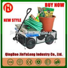 Popular capacidade de carga pesada montado carrinho de ferramenta de carrinho de jardim para Quintal Farm Lenha Praia Paisagismo