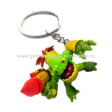 Plastic Key-chain for Promotional Gift/Advertising Purposes, Made of PVC, OEM Orders are WelcomeNew