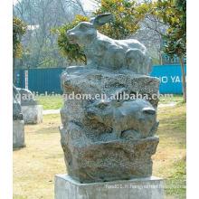 Belle sculpture en pierre de lapin