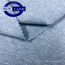 ropa casual de moda ropa 95/5 hilado teñido 2x2 tela de costilla de spandex de algodón