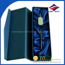 Irregualr shape custom box silver blank bookmark