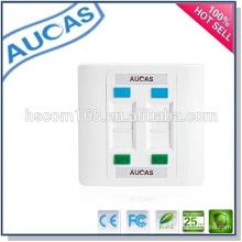 Cat5e cat6 network rj45 4 faceplate de la puerta / precio de fábrica de China uk nosotros placa frontal / systimax solo placa de pared dual del puerto