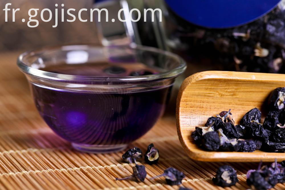 Niangxia Wild Black Goji Berry in water