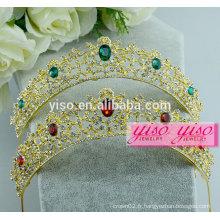 Accessoires de cheveux coréens décoratifs robes de mariée en gros tiara
