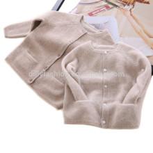 2017 novo luxo puro cashmere bebê cardigan padrão de tricô