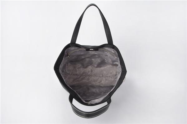 Tote Style Leather Trim Nylon Woman Handbag