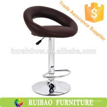 2016 Barato Clásico PU Cuero De Acero Bar Chair Dimensiones Taburete Asiento Cubre