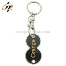 Wholesale cheap high quality custom design aluminium double coins trolley coin