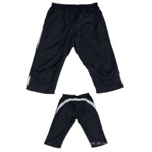 Yj-3024 Mens Lined Polyester Übung Jogger Knie Shorts Halbe Hosen