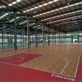 Handelsinnenbasketballplatz-Bodenbelagholzoberfläche
