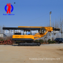 HuaxiaMaster supply 15 meters crawler rotary pile drilling rig with square power rod high efficiency rotary pile drilling rig