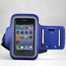 Outdoor Soft Leather Sport Arm Band Case , Iphone Waterproof Bag Durable