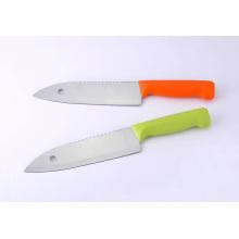 """7 """"facas de aço inoxidável de Santoku, faca de cozinha com lâmina do furo"""