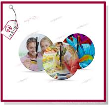 Imprimé de sublimation verre personnalisé horloge murale ronde