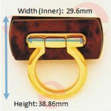Zink-Legierung Metall Circle Bag Lock für Frauentasche