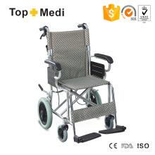 Súper médico ligero de aluminio portátil silla de ruedas