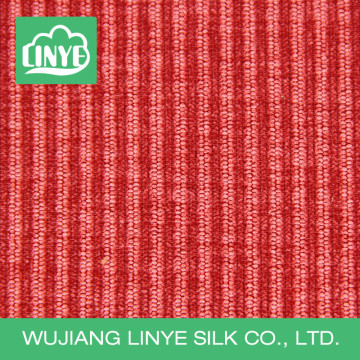 stripe velvet 100% polyester corduroy fabric, pillow case material, outdoor furniture fabric