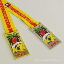 Decoración de recuerdo de tamaño personalizado aleación de cinc diseño medalla de metal