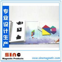 Hot Book-Style Magnetic Tangram Puzzle Denkaufgabe Kinder Montessori Iq Lernspiel Spielzeug für Kinder 72 Herausforderungen