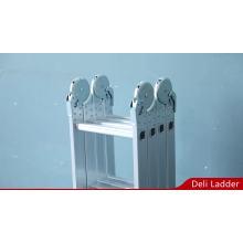 Faltbare Aluminiumleiter mit 4x3 Schritten und kleinen Scharnieren EN131 SGS CE