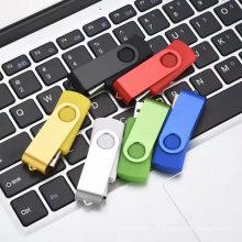 Pen drive USB com logotipo personalizado giratório colorido atacado