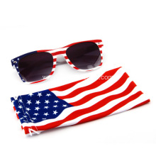 Promotional Printed Flag Sunglasses With Microfiber Pouch