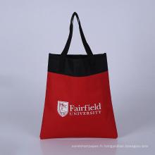 sac de chaîne de tissus de polyester sac d'école de sacs de magasinage