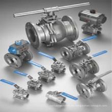 Válvulas de bola de fundición de cera perdida Válvula de brida (piezas de mecanizado)