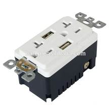 TR-BAS20-2USB UL y CUL listed RECEPTACLE con USB