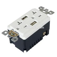 TR-BAS20-2USB UL e CUL listado como RECEPTACLE com USB