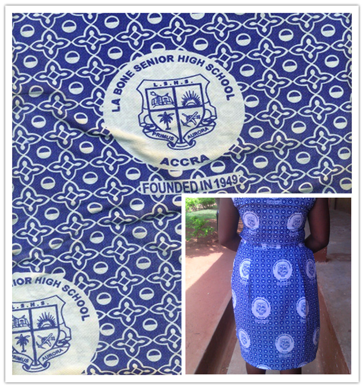 polyester cotton print ghana school uniform fabric