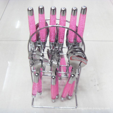 24PCS utensílios de mesa de aço inoxidável