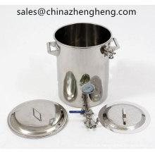 Bouilloire de 15kallon en acier inoxydable Mash Tun Brew avec faux bas