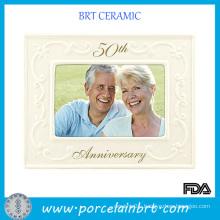 Golden Wedding Anniversary Photo Frame