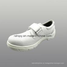 Calçados de segurança PU couro Artificial de microfibra com malha forro (HQ01030)