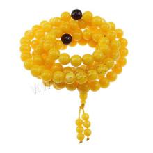 2015 Gets.com 108 perles japa mala, Natural Yellow Amber