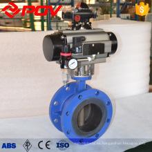 Válvulas de mariposa con brida ss410 con actuador neumático dn500