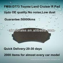 D773 alta qualidade cerâmica freio pad para Toyota Land Cruiser