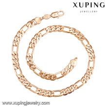 43560 xuping atacado fabricante de jóias China fio de seda pesado ouro cheio cadeias colar