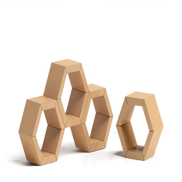 Corrugated hexagon lattice pendulum pieces
