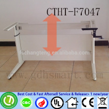 CTHT-F7047 PEMEX company hand turned adjustable height office table frame in 2 legs height adjustable laptop desk frame