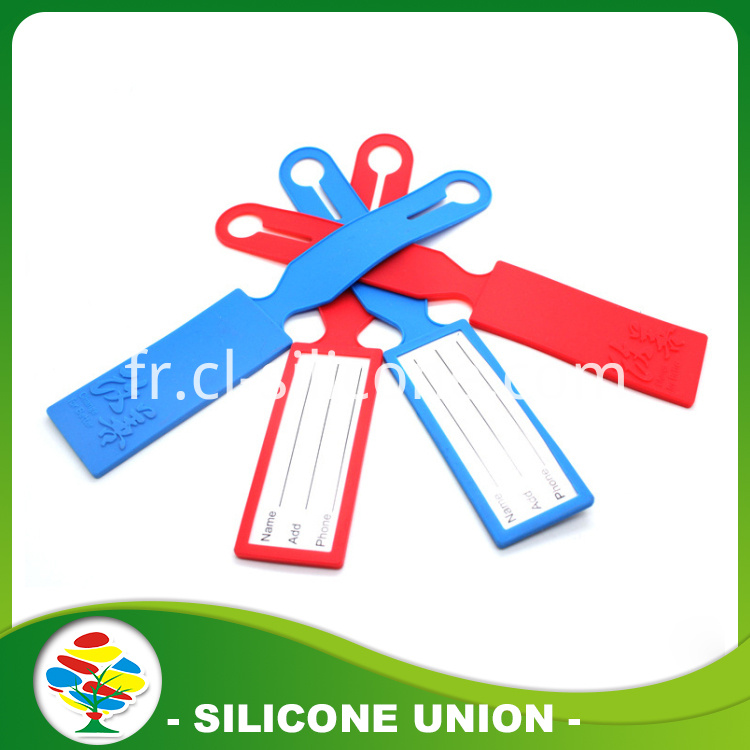 blue red Silicone luggage tag