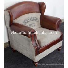 Conjunto de sofá de tela de cuero diseño europeo