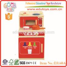Горячая продажа Pretend Kitchen, популярный комплект деревянных игрушек и высококачественная игрушечная кухня