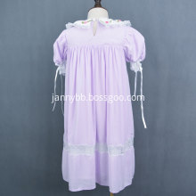 Summer Embroidered Short Sleeve Dress for Girls