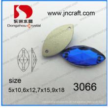 China cavalo olho navette costurar em grânulos de pedras de vestuário (dz-3066)