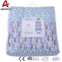 Лицо 100% полиэстер микрофибра одеяло,обратно шерпа ткани при 120gsm кабальный заполнения