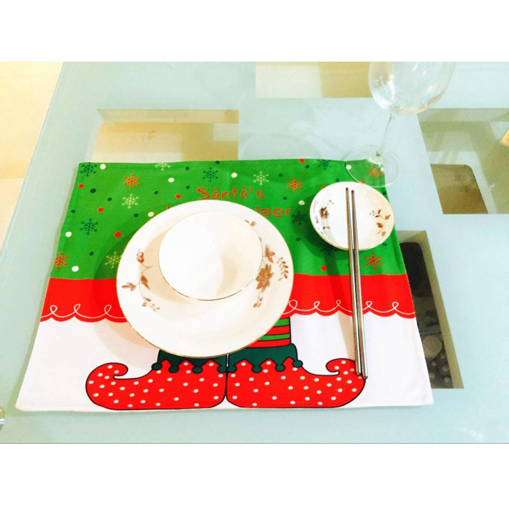 Christmas Santa Placemats Table