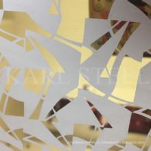 Высокое качество Цвет лист нержавеющей стали для украшения материалы